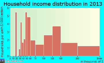 Riverlea household income distribution