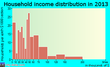 South Point household income distribution