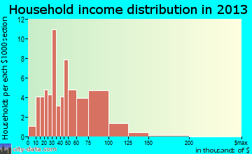 Byng household income distribution