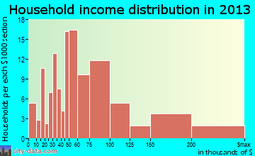 Lake Nacimiento household income distribution