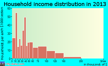 Metzger household income distribution