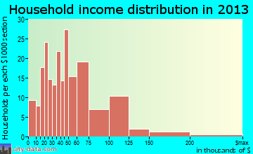 Philomath household income distribution