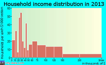 Village Shires household income distribution