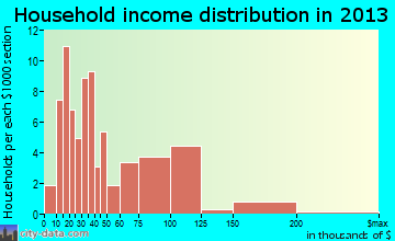 Vinco household income distribution