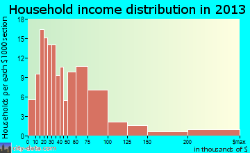 Muncy household income distribution