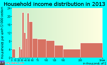 Newtown Grant household income distribution