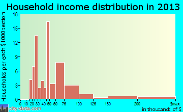 Brickerville household income distribution