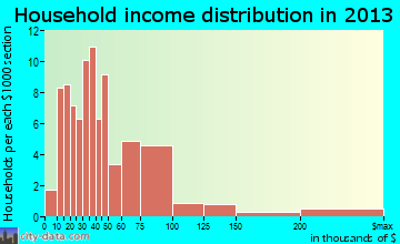 Burgettstown household income distribution