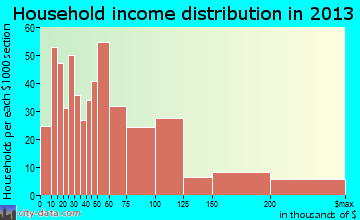 Fort Mill household income distribution