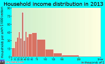 Irmo household income distribution