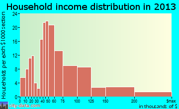 Pleasant View household income distribution