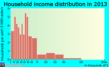 Williston household income distribution