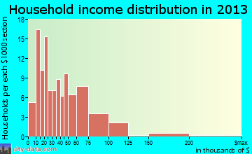 Bruceton household income distribution