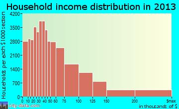 Austin household income distribution