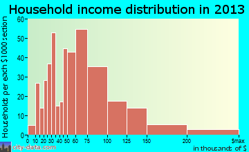 Salida household income distribution