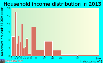 Bolivar Peninsula household income distribution