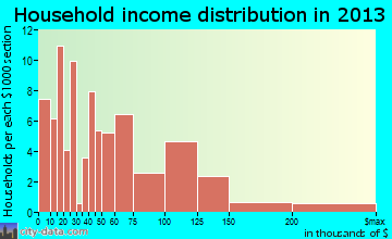 Brookside Village household income distribution