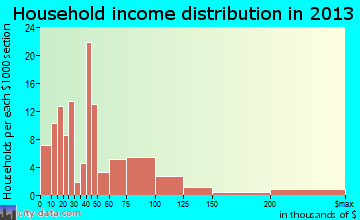 San Miguel household income distribution