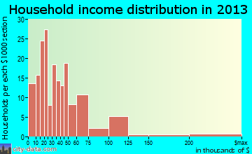 Haskell household income distribution