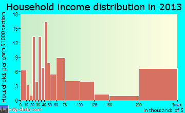Hedwig Village household income distribution
