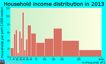 Hudson Oaks household income distribution