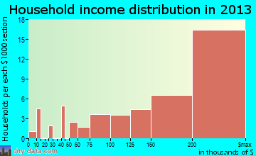 Hunters Creek Village household income distribution