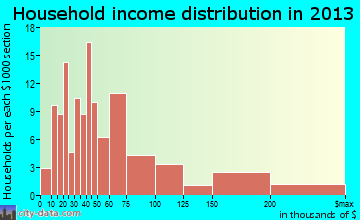 Jonestown household income distribution