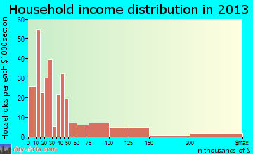 Kenedy household income distribution