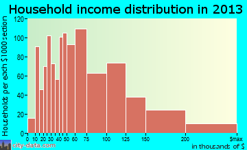 Leander household income distribution
