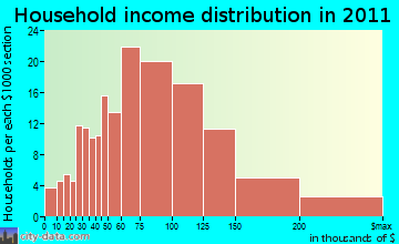 Meadows Place household income distribution