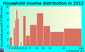 Parker household income distribution