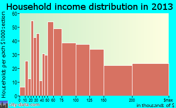Pecan Grove household income distribution