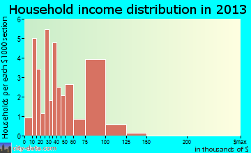 Point Blank household income distribution