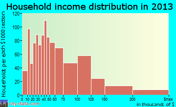 Spring Valley household income distribution