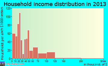 Robstown household income distribution