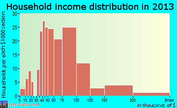 Selma household income distribution