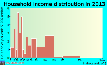Warren City household income distribution