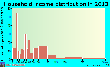 Wimberley household income distribution