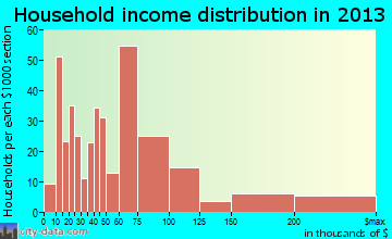 Windcrest household income distribution