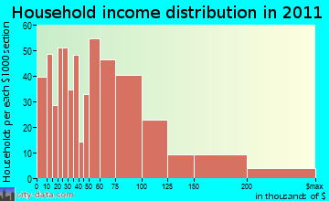 Waldon household income distribution