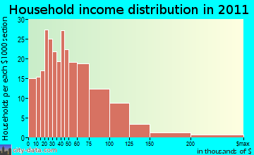Randolph household income distribution