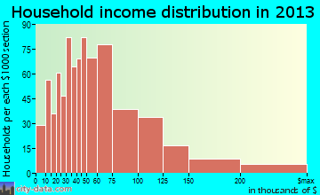 Bon Air household income distribution
