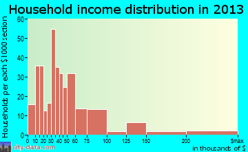 Luray household income distribution