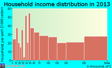 Mount Vernon household income distribution