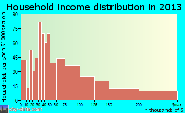 Vashon household income distribution