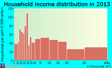 Bainbridge Island household income distribution