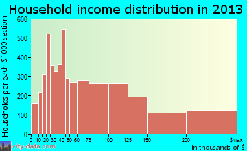 Bellevue household income distribution