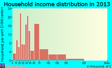 Central Park household income distribution