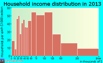East Renton Highlands household income distribution