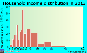 Granite Falls household income distribution